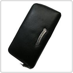 クロムハーツ財布(ChromeHearts)REC・F・ZIP#2・フィリグリープラス・ブラック・ヘビーレザー(メンズ)(クロム・ハーツ)(長財布)