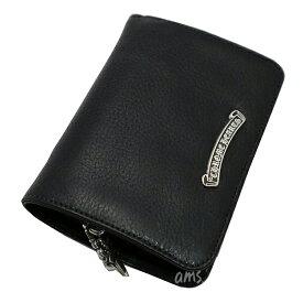 クロムハーツ 財布(Chrome Hearts)ジョーイ・ブラック・ヘビーレザー・ウォレット (メンズ)