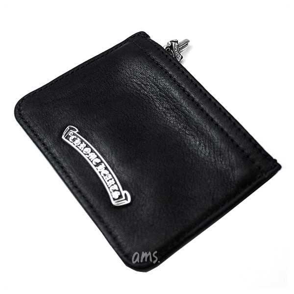 クロムハーツ 財布(Chrome Hearts)ジッパーチェンジパース3×4・ブラック・レザー(メンズ)(クロム・ハーツ)(長財布)
