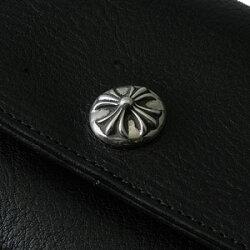 クロムハーツ財布(ChromeHearts)ジュディ・ブラック・ヘビーレザー(送料無料)(メンズ)(クロム・ハーツ)(長財布)