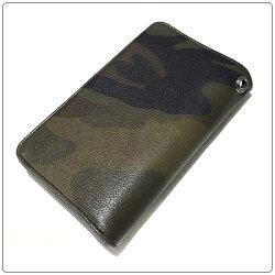 クロムハーツ財布(ChromeHearts)1ジップ・LTボタン・セメタリーパッチ・タンクカモ・レザーウォレット(クロム・ハーツ)(長財布)