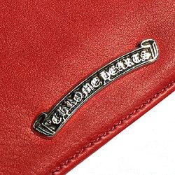 クロムハーツ財布(ChromeHearts)ウォレットジッパーチェンジパース#2レッドライトレザーw/セメタリークロスパッチ