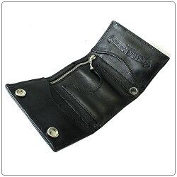 【クロムハーツ財布!】CHROMEHEARTS/クロムハーツウォレット-3フォールド・クロス・ボタンズ・ブラックレザー