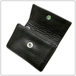 クロムハーツ財布(ChromeHearts)ウォレット・タイニー・CHプラス・ブラック・ヘビーレザー(クロム・ハーツ)