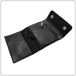クロムハーツ財布(ChromeHearts)ウォレット・リル・スプーン・ブラック・ヘビー・レザー(クロム・ハーツ)