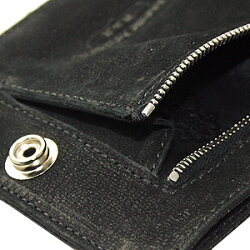 クロムハーツ財布(ChromeHearts)ワンスナップ・クロスボタン・BKデストロイレザー(メンズ)(クロム・ハーツ)(長財布)