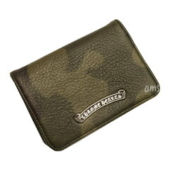 クロムハーツ財布(ChromeHearts)カードケースV1・3ポケットCHスクロールタンク・ヘビーレザー(送料無料)(メンズ)(クロム・ハーツ)