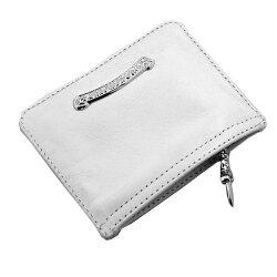 クロムハーツ財布(ChromeHearts)ジッパーチェンジパース3×4・ホワイト・ライトレザー(クロム・ハーツ)(小銭入れ)(コインケース)