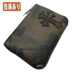 クロムハーツ財布(ChromeHearts)ジッパーチェンジパース4×5パイピングセメタリー・タンクカモレザーウォレット(メンズ)(クロム・ハーツ)(長財布)