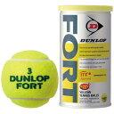 DUNLOP(ダンロップ)【FORT(フォート)[2個入](1缶/2球)】硬式テニスボール