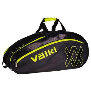 【6本収納】フォルクル(Volkl) 2018 ツアー コンビ ラケットバッグ ブラック×ネオンイエロー V78102(18y9m)[次回使えるクーポンプレゼント]
