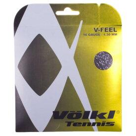 【お試し12Mカット品】フォルクル(Volkl) Vフィール V-Feel 17(1.25mm)/16(1.30mm) ブラックxシルバー硬式テニス マルチフィラメントガット 【2018年11月登録】[次回使えるクーポンプレゼント]