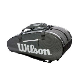 [15本収納]ウィルソン(Wilson) SUPER TOUR 3 COMP ラケットバッグ ブラック・グレー WRZ843915(19y2m)[次回使えるクーポンプレゼント]