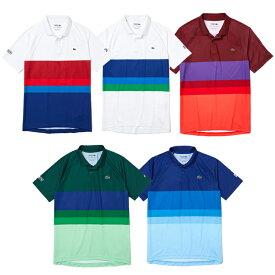 「ノバク・ジョコビッチ」「海外サイズ」ラコステ(Lacoste) 2021 FW メンズ スポーツ ブリーザブル カラーブロック 半袖ポロシャツ DH6959(21y9mテニス)[次回使えるクーポンプレゼント]
