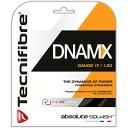 2点以上で10%OFFクーポン】[単張パッケージ品]テクニファイバー(Tecnifibre) DNAMX 17(1.20mm) ブラック 9.7M スカッシュ ...
