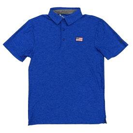 [ゴルフ]アンダーアーマー(UNDER ARMOUR) メンズ プレイオフ USフラッグ ゴルフ ポロシャツ UM0571-148 ブルー(19y8mゴルフ)[次回使えるクーポンプレゼント]
