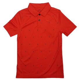 ナイキ(NIKE) 2019 FW ジュニア(ボーイズ) DRI-FIT トライアングル プリント ポロシャツ BQ4730-634ハバネロレッド(19y8mゴルフ)[次回使えるクーポンプレゼント]