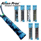 [ウェット1本入]AlienPros(エイリアンプロス)デザイナーテニスオーバーグリップテープウェットタイプC-TACCT-TE-1(19y10m)