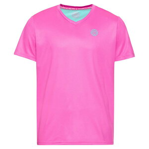[海外サイズ]BIDI BADU(ビディバドゥ) 2020 SS メンズ テッド(Ted) テック Tシャツ M36004203-ピンク×ミント(20y1mテニス)[次回使えるクーポンプレゼント]