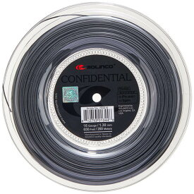 ソリンコ(SOLINCO) コンフィデンシャル(1.15/1.20/1.25/1.30mm) 200Mロール 硬式テニスガット ポリエステルガット-ダークシルバー(20y2m)[次回使えるクーポンプレゼント]