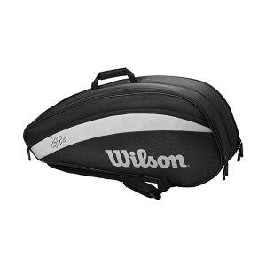 [6本収納]ウィルソン(Wilson) 2020 フェデラー チーム ラケットバッグ テニスバッグ WR8005701001-ブラック(20y2m)[次回使えるクーポンプレゼント]