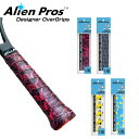 [ウェット1本入]Alien Pros(エイリアン プロス) デザイナー テニス グリップテープ ウェット タイプ C-TAC CT-TE-1(20…