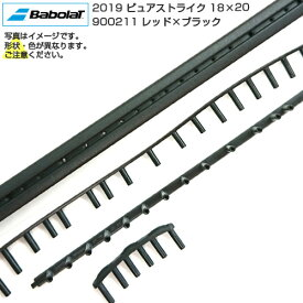 2点以上で10%OFFクーポン】[グロメット]バボラ(Babolat) BG 2019 ピュアストライク18×20 900211-レッド×ブラック(20y3m)[次回使えるクーポンプレゼント]