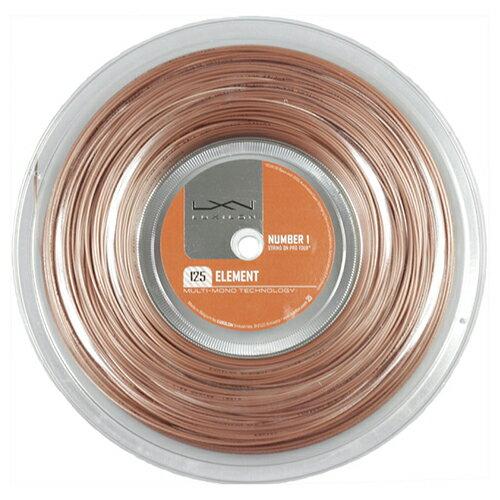 ルキシロン エレメント(1.25mm/1.30mm) 200Mロール 硬式テニス ポリエステル ガット(Luxilon Element 200m String Reel)WRZ990106【2015年11月発売】