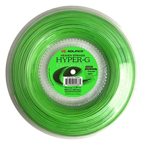 ソリンコ ハイパーG(1.05/1.10/1.15/1.20/1.25/1.30mm) 200Mロール 硬式テニス ポリエステル ガット(Solinco HYPER G 200m roll strings)【2015年11月発売】[次回使えるクーポンプレゼント]