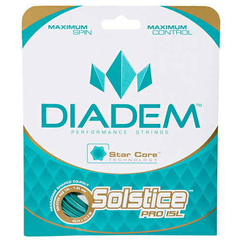 【12Mカット品】ダイアデム ソルスティス プロ(1.25mm) 硬式テニス ポリエステル ガット(DIadem Solstice Pro 16L strings)【2015年11月発売】