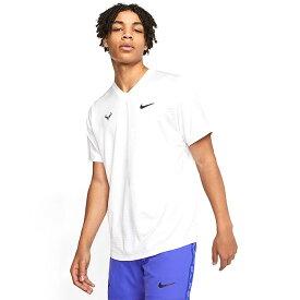 [ラファエル・ナダル][USサイズ]ナイキ(NIKE) 2020 メンズ ラファ チャレンジャー 半袖Tシャツ CI9148-100 ホワイト×グリッドアイアン(20y6mテニス)[次回使えるクーポンプレゼント]