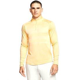 [USサイズ]ナイキ(NIKE) 2020 メンズ DRI-FIT ヴェイパー ハーフジップ長袖シャツ BV0390-251 セレスティアルゴールド×ホワイト(20y6mゴルフ)[次回使えるクーポンプレゼント]