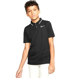在庫処分特価】ナイキ(NIKE) 2020 ジュニア(ボーイズ) DRI-FIT ビクトリー ポロシャツ BV0404-010 ブラック×ホワイト(20y6mゴルフ)[次回使えるクーポンプレゼント]