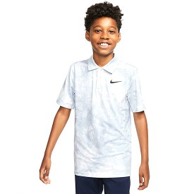 在庫処分特価】ナイキ(NIKE) 2020 ジュニア(ボーイズ) DRI-FIT プリントポロシャツ CK0990-100 ホワイト×ブラック(20y6mゴルフ)[次回使えるクーポンプレゼント]