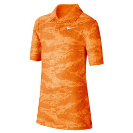 在庫処分特価】ナイキ(NIKE) 2020 ジュニア(ボーイズ) DRI-FIT カモフラ柄ポロシャツ BV0406-803 トータルオレンジ(20y6mゴルフ)[次回使えるクーポンプレゼント]