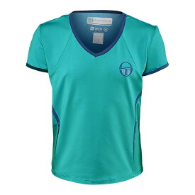 [USサイズ]セルジオ タッキーニ(SergioTacchini) レディース EVA 半袖Tシャツ 36882-320 セラミック×ネイビー(20y8mテニス)[次回使えるクーポンプレゼント]