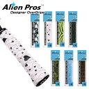 [ウェット1本入]Alien Pros(エイリアン プロス) デザイナー テニス グリップテープ ウェット タイプ C-TAC CT-TE-1(19…