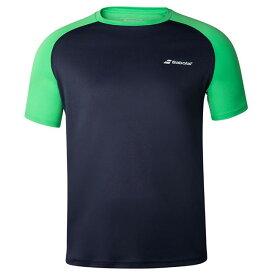 [USサイズ]バボラ(Babolat) 2020 FW メンズ PLAY(プレー) クルーネック半袖Tシャツ 3MTA011-4050 ピーコート×ポイズングリーン(20y9mテニス)[次回使えるクーポンプレゼント]