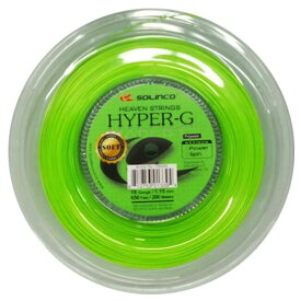 ソリンコ(SOLINCO) HYPER G SOFT ハイパーG ソフト (1.15/1.20/1.25/1.30mm) 200Mロール 硬式テニスガット ポリエステルガット -ライトグリーン(20y11m)[次回使えるクーポンプレゼント]