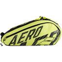 [6本収納]バボラ(Babolat) 2020 PURE AERO ピュアアエロ 6R ラケットバッグ テニスバッグ 751212-142 ブラック×イエ…