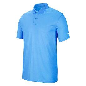 [USサイズ]ナイキ(NIKE) メンズ DRI-FIT ビクトリー ソリッド半袖ポロシャツ BV0356-412 ユニバーシティブルー×ホワイト(20y10mゴルフ)[次回使えるクーポンプレゼント]