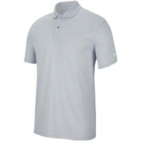 [USサイズ]ナイキ(NIKE) メンズ DRI-FIT ビクトリー ソリッド半袖ポロシャツ BV0356-042 スカイグレー×ホワイト(20y10mゴルフ)[次回使えるクーポンプレゼント]
