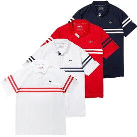 [ノバク・ジョコビッチ][海外サイズ]ラコステ(Lacoste) 2021 SS メンズ スポーツ ウルトラライト ストライプ 半袖ポロシャツ DH9685(21y4mテニス)[次回使えるクーポンプレゼント]