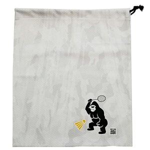 決算大感謝祭!6月限定ポイント10倍】TENIGORI(テニゴリ) 2021 バドミントンプリント 巾着袋 衣類入れ シューズバッグ TGBG003(21y5m)[次回使えるクーポンプレゼント]