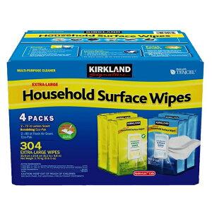KIRKLAND SIGNATURE(カークランドシグネチャー) ハウスホールドワイプ 4袋入りセット モップ装着 ふき掃除用シート 914131(21y5m)[次回使えるクーポンプレゼント]