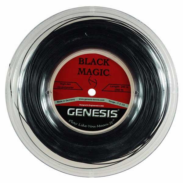ジェネシス(GENESIS) ブラックマジック(1.23mm/1.29mm)200Mロール 硬式テニス ポリエステルガット【2017年5月登録】
