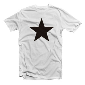 Tシャツメンズレディース半袖おしゃれプリントクルーネックブラックホワイトグレー綿100%コットン春夏服カジュアルSTAR星星柄デザイン