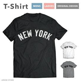 Tシャツ メンズ レディース 半袖 おしゃれ プリント クルーネック ブラック ホワイト グレー 綿100% コットン 春 夏 春服 夏服 メンズファッション カジュアル NEW YORK デザイン baseball