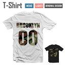 デザイン Tシャツ【BROOKLYN 00/ミリタリー】【迷彩/カモフラージュ/カモ/ストーン/ブルックリン/NEW YORK/ニューヨー…
