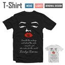 アパレル 半袖 Tシャツ S M L XL 送料無料 デザイン Tシャツ【Marilyn Face Design/フェイス デザイン】【Marilyn Monroe/マリリン モンロー/ホワイト/リッ